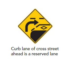 Curb lane reserved