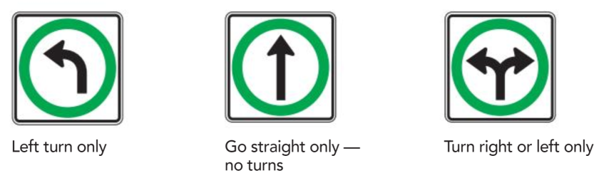 Turn Control Signs