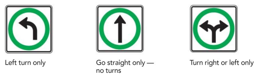 Turn Control Signs