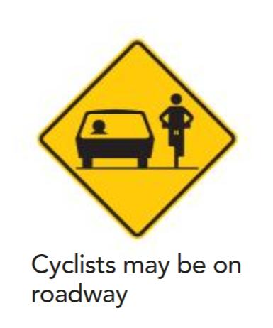 Cyclistsonroadway